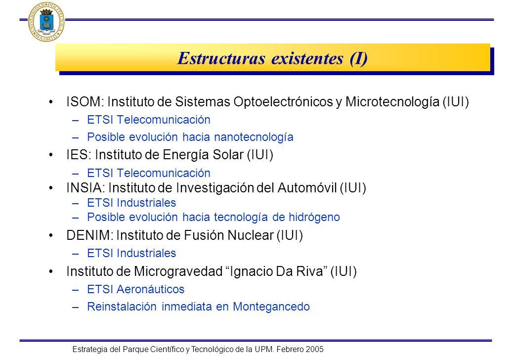 Estructuras existentes (I)