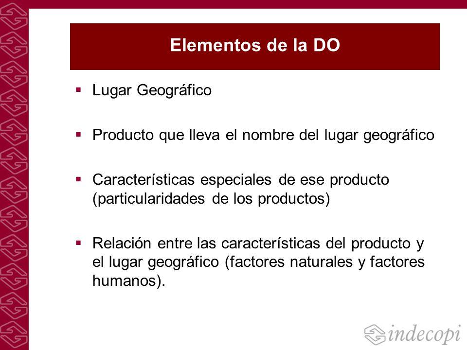 Elementos de la DO Lugar Geográfico