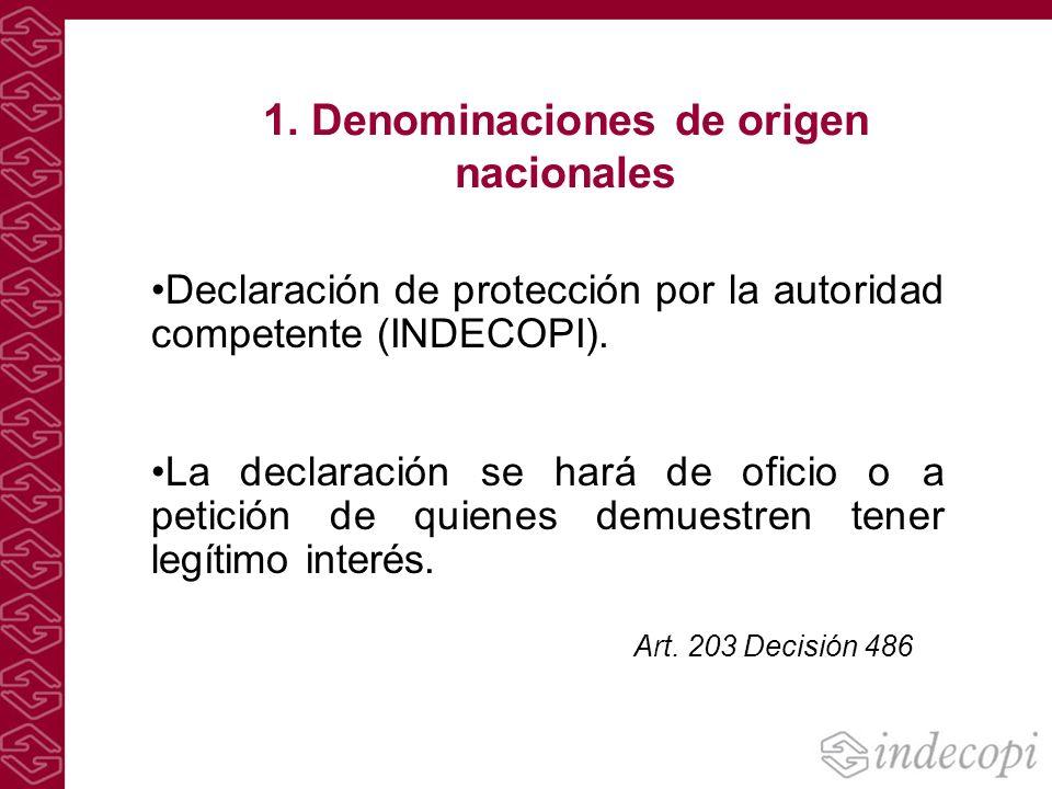 1. Denominaciones de origen nacionales