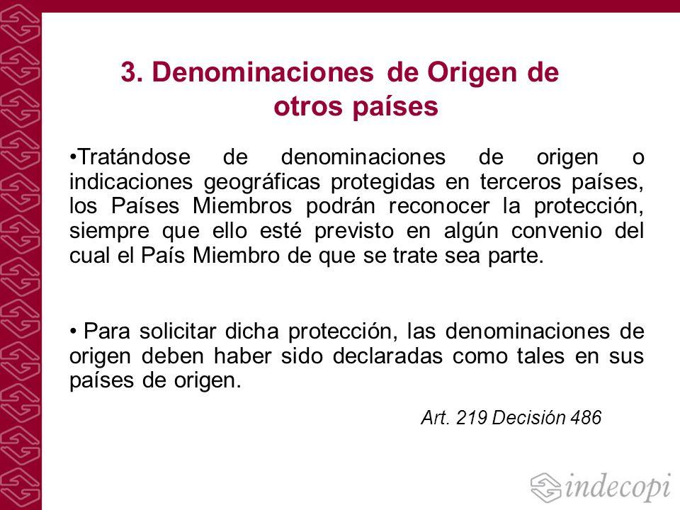 3. Denominaciones de Origen de otros países
