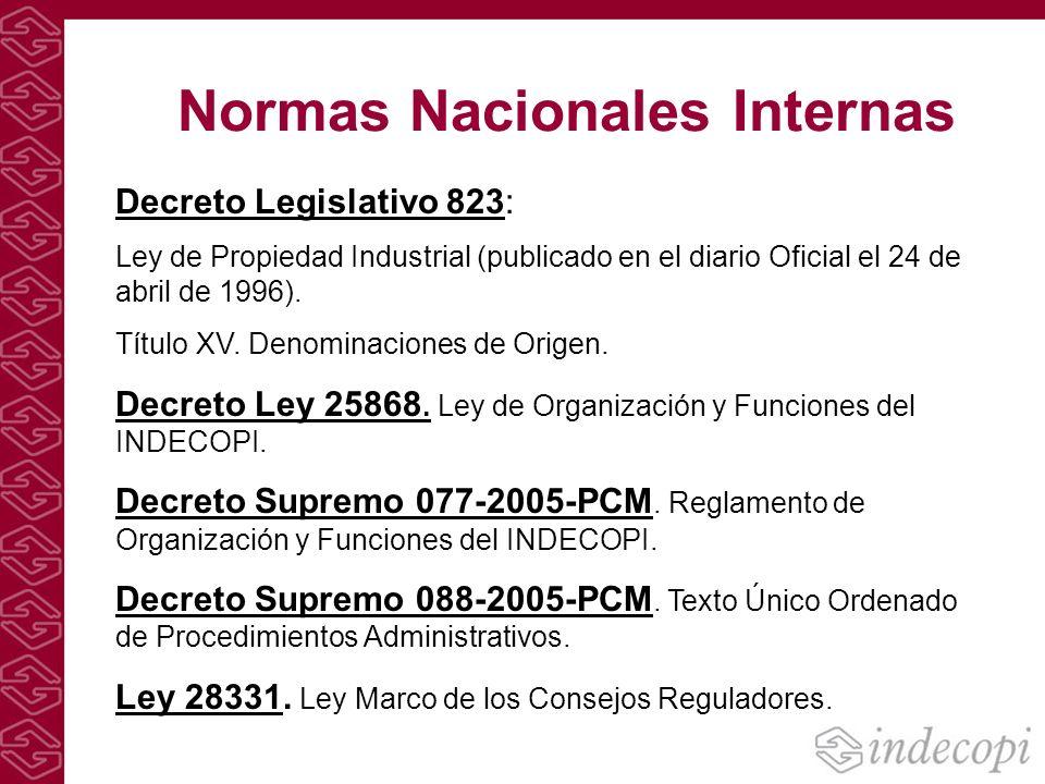 Normas Nacionales Internas