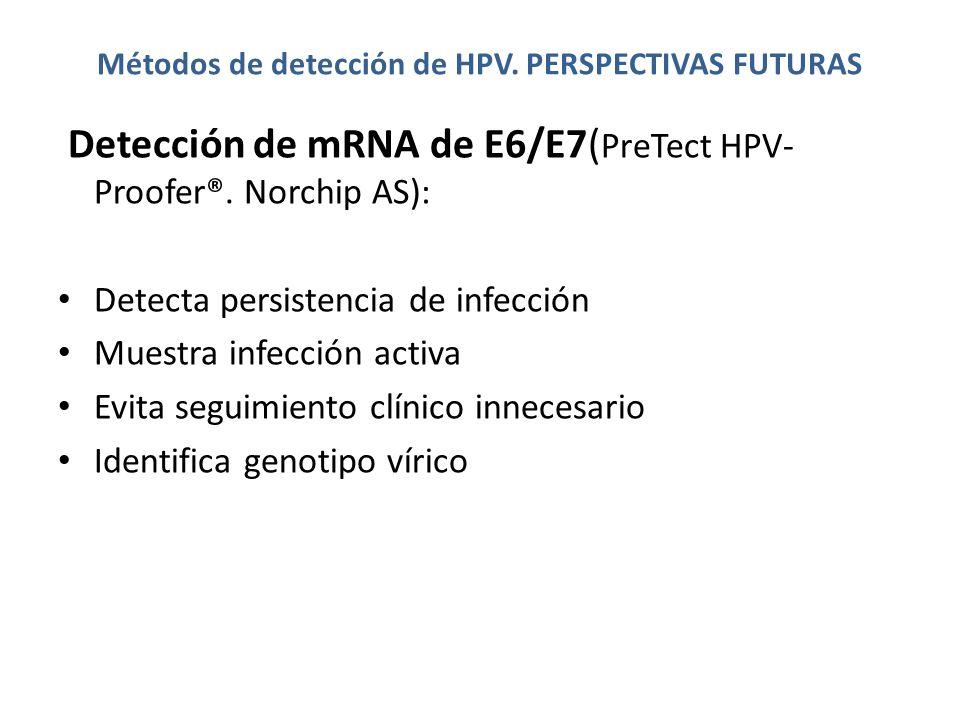 Métodos de detección de HPV. PERSPECTIVAS FUTURAS