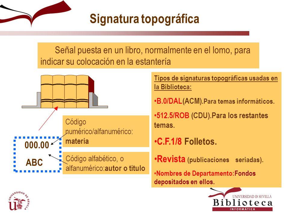 Signatura topográfica