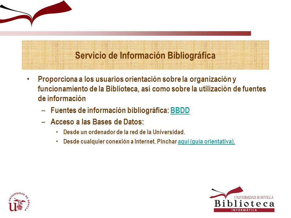 Servicio de Información Bibliográfica