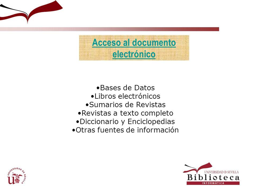 Acceso al documento electrónico