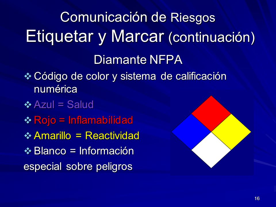 Comunicación de Riesgos Etiquetar y Marcar (continuación)