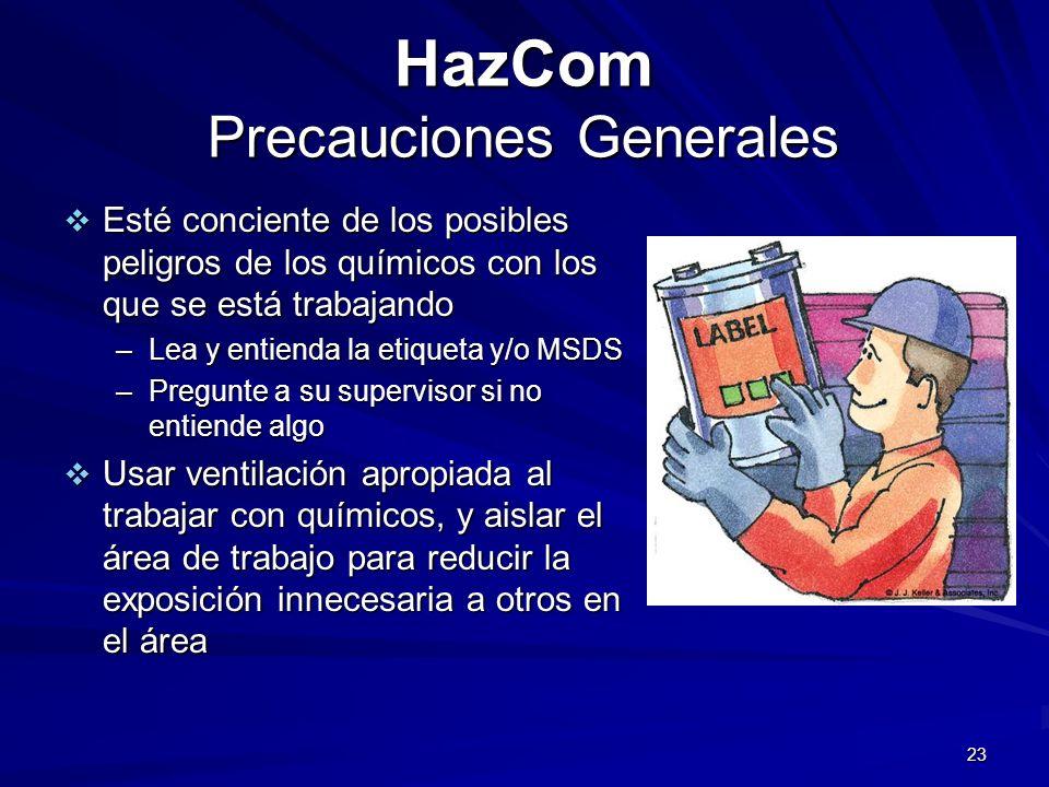 HazCom Precauciones Generales