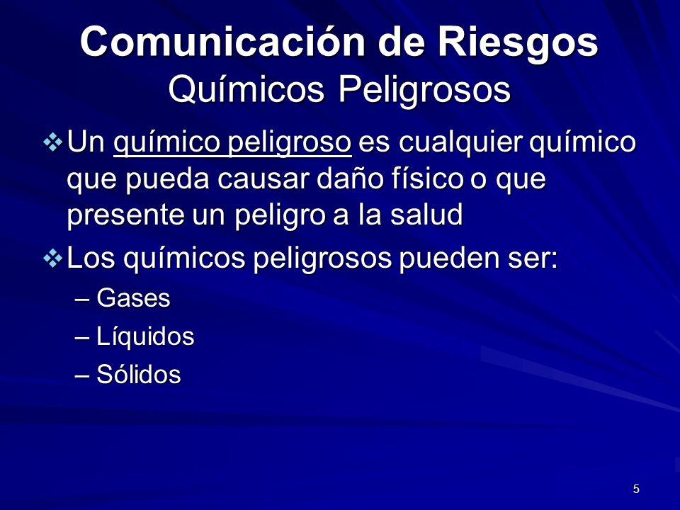Comunicación de Riesgos Químicos Peligrosos