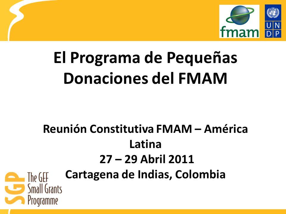 El Programa de Pequeñas Donaciones del FMAM