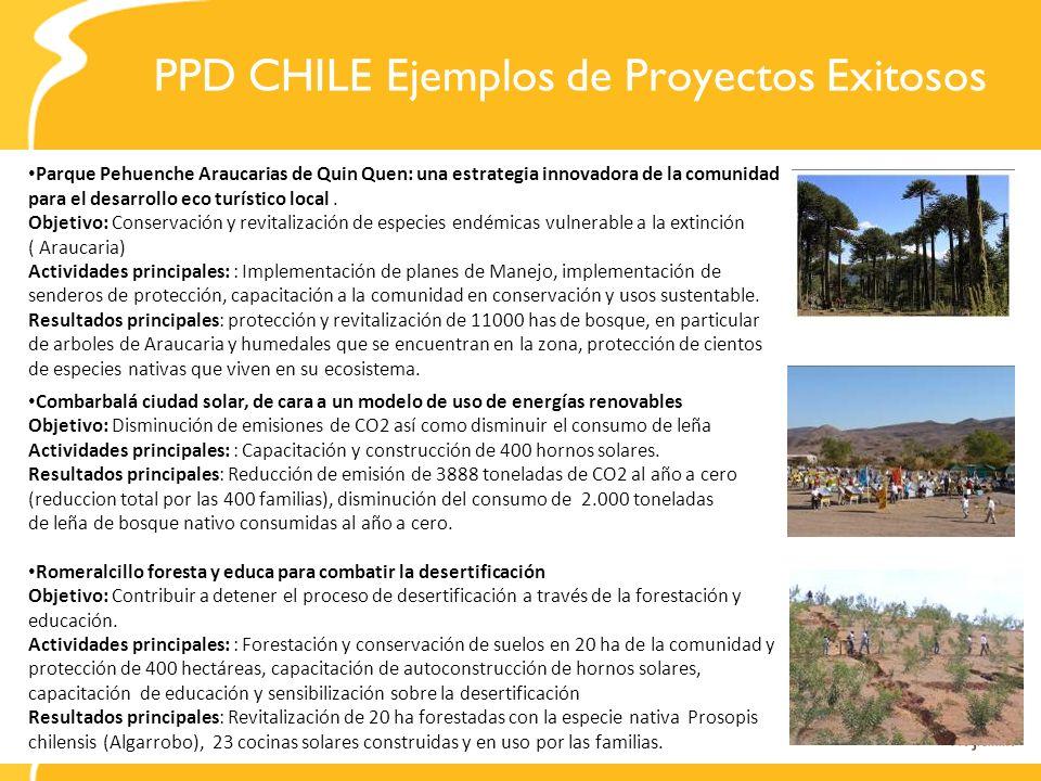 PPD CHILE Ejemplos de Proyectos Exitosos