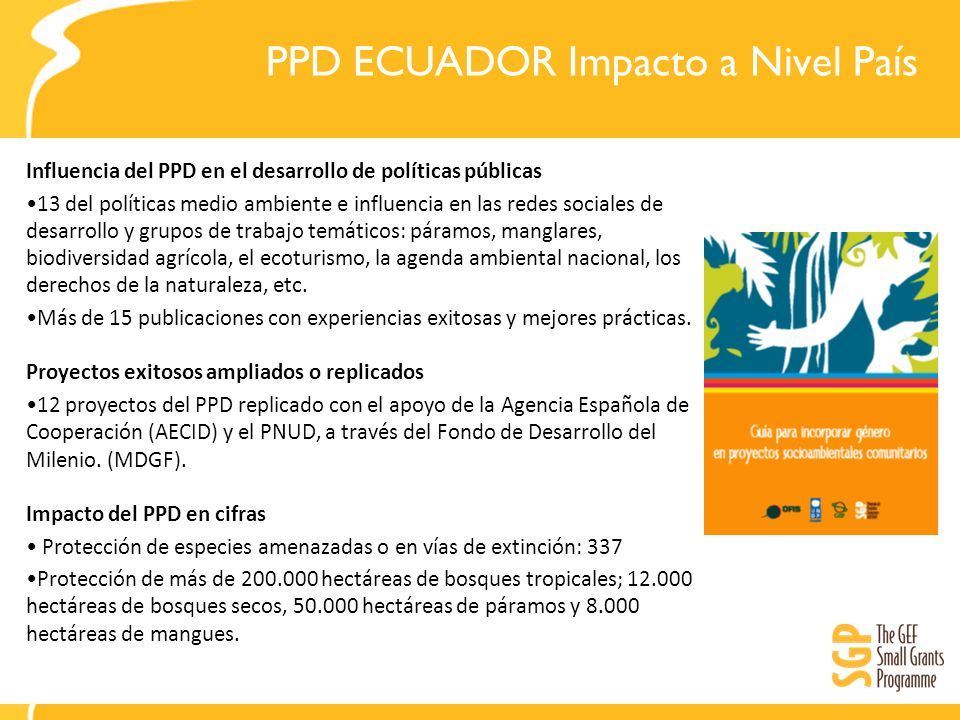PPD ECUADOR Impacto a Nivel País
