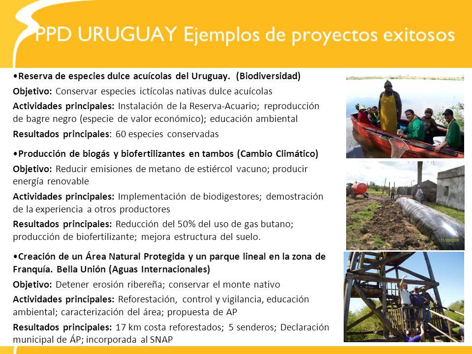 PPD URUGUAY Ejemplos de proyectos exitosos