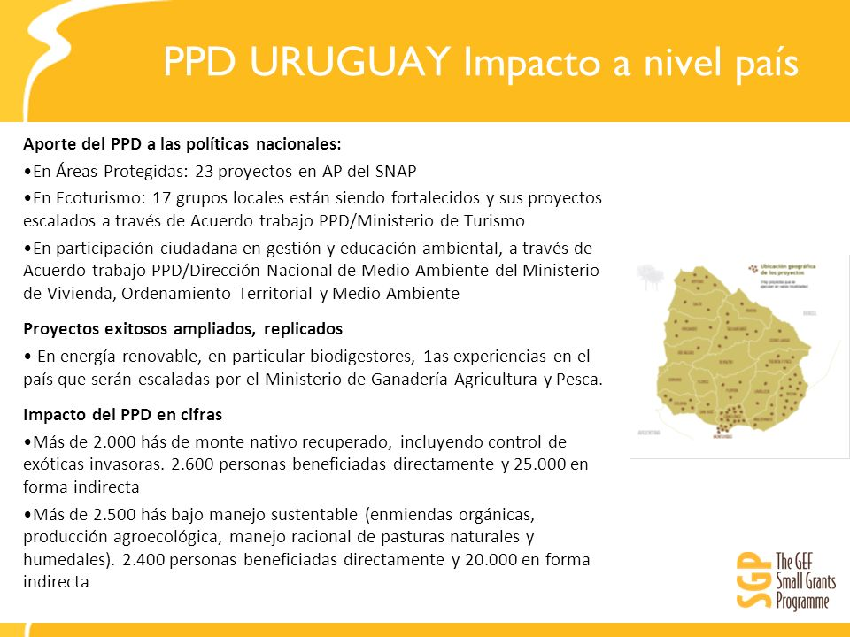 PPD URUGUAY Impacto a nivel país