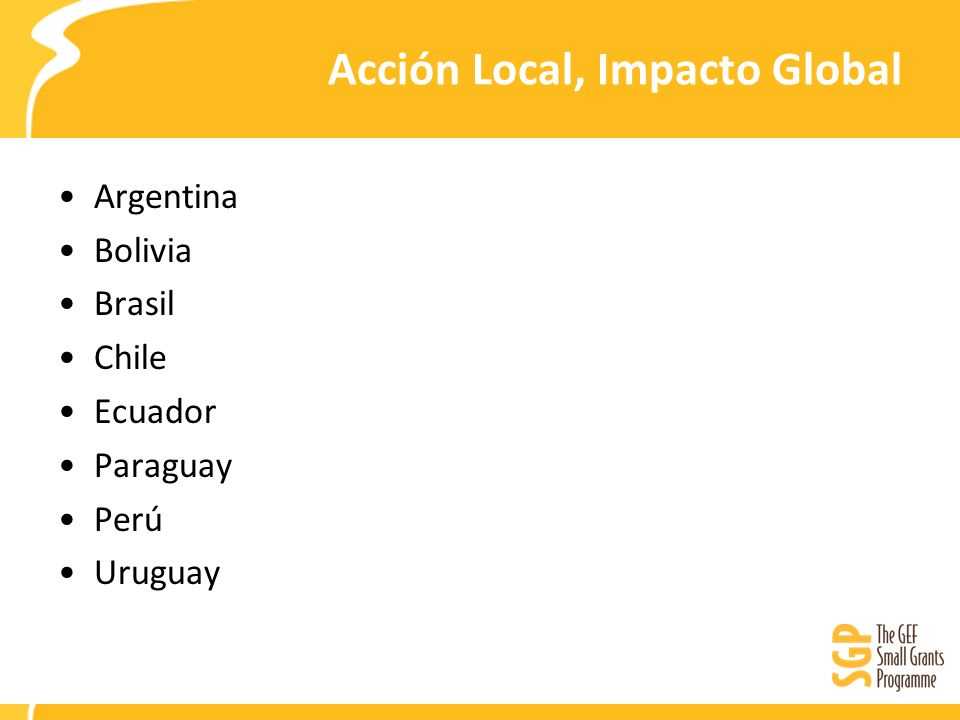 Acción Local, Impacto Global