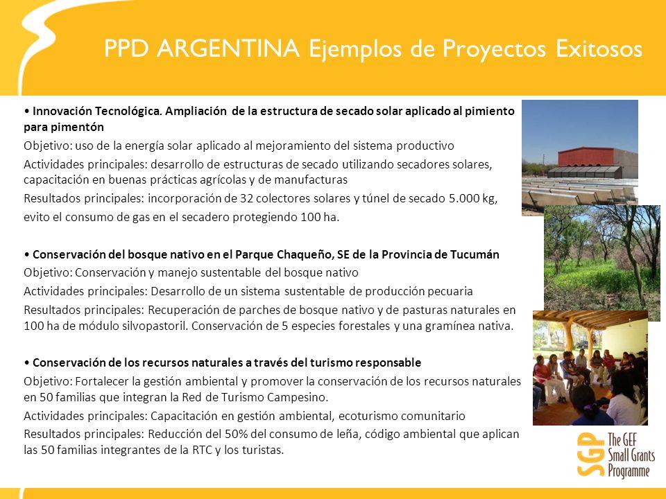 PPD ARGENTINA Ejemplos de Proyectos Exitosos