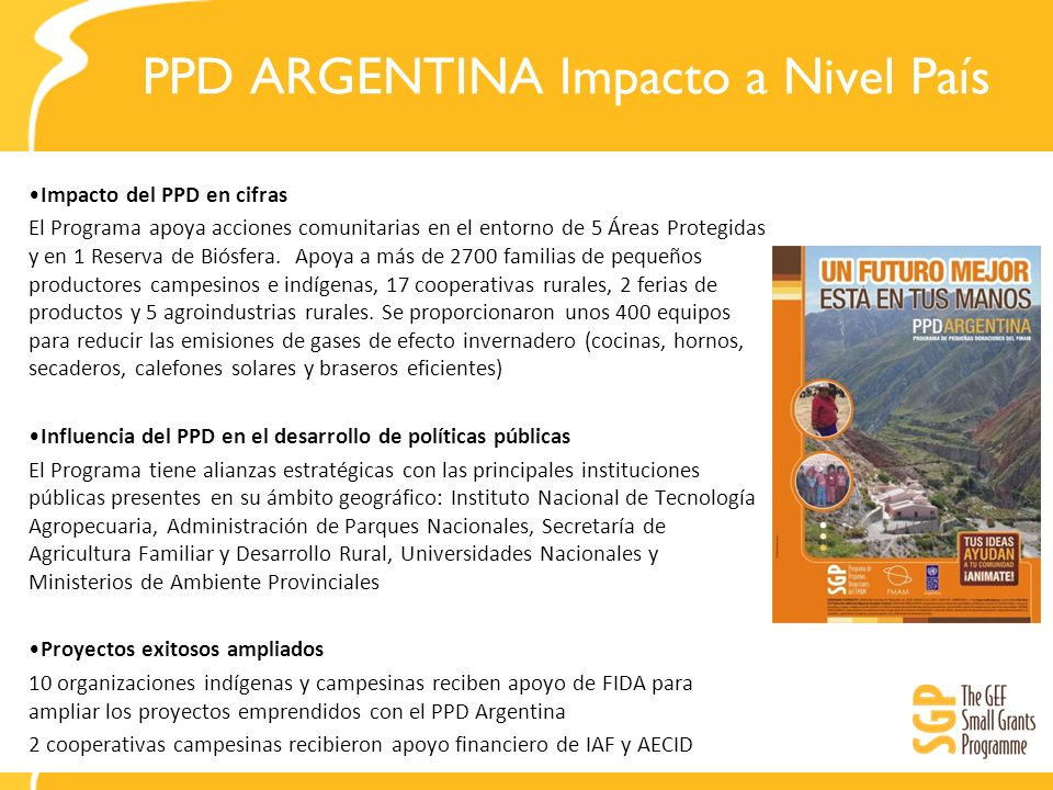 PPD ARGENTINA Impacto a Nivel País