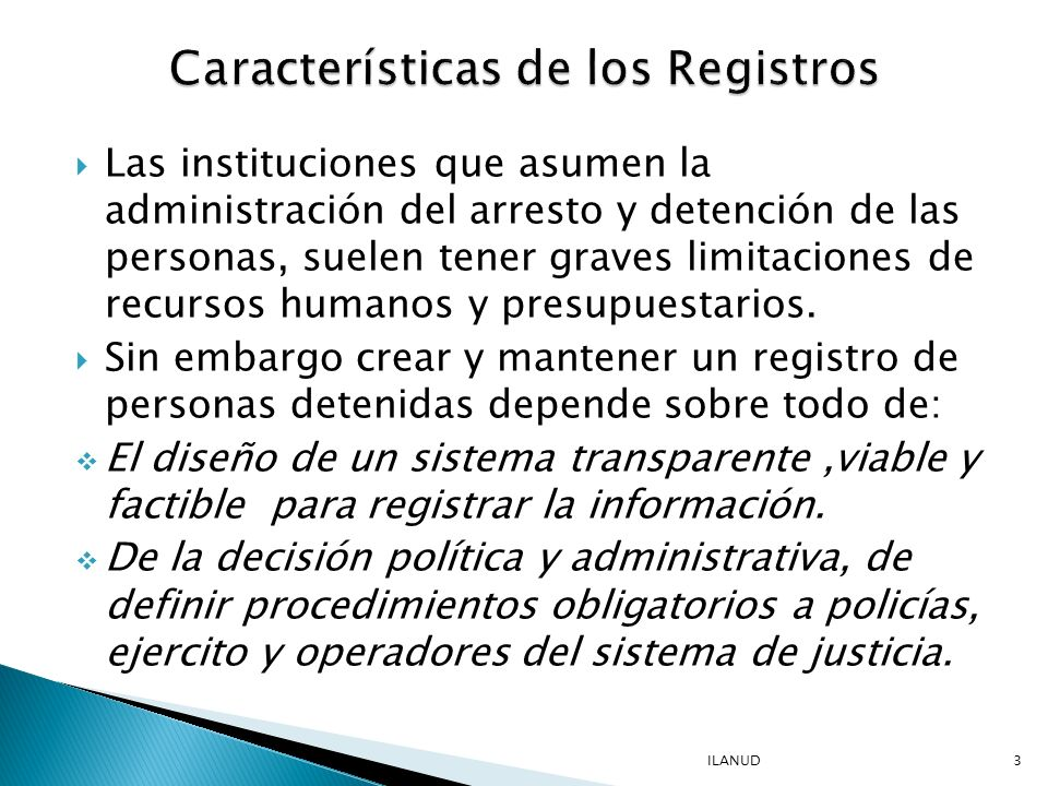 Características de los Registros