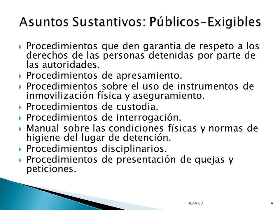 Asuntos Sustantivos: Públicos-Exigibles
