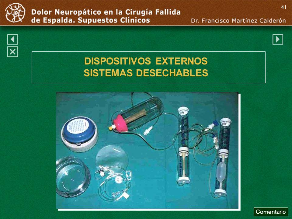 DISPOSITIVOS EXTERNOS SISTEMAS DESECHABLES