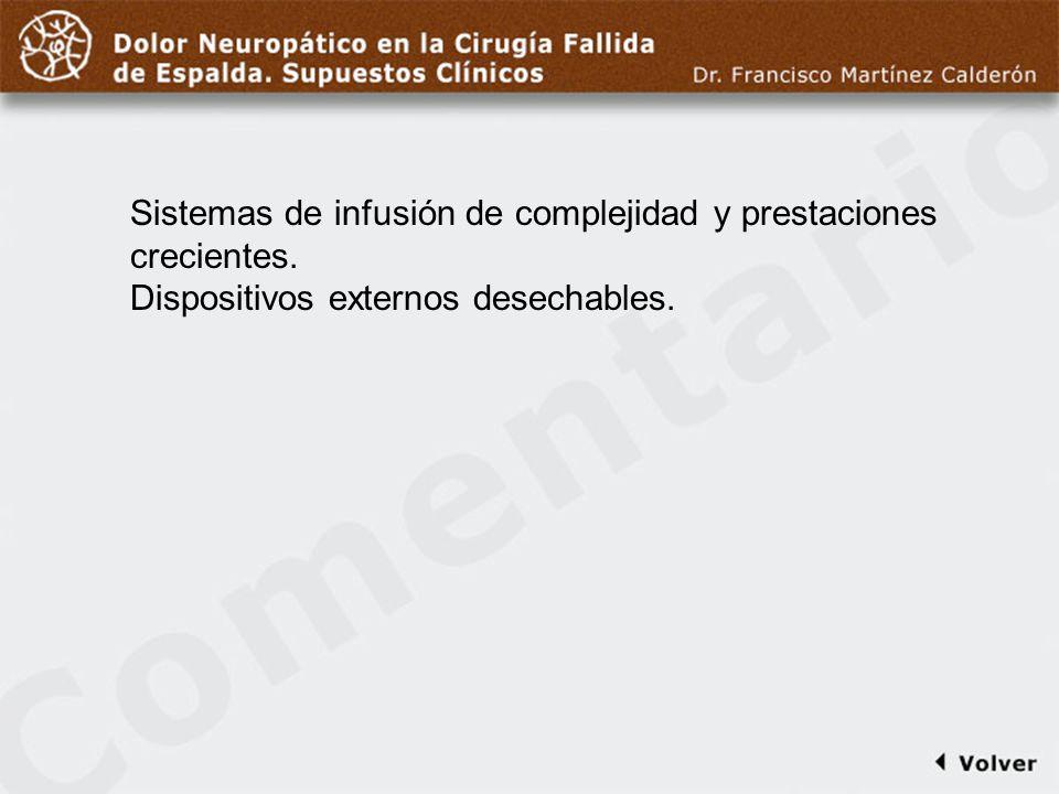 Comentario a diapo42 Sistemas de infusión de complejidad y prestaciones crecientes.