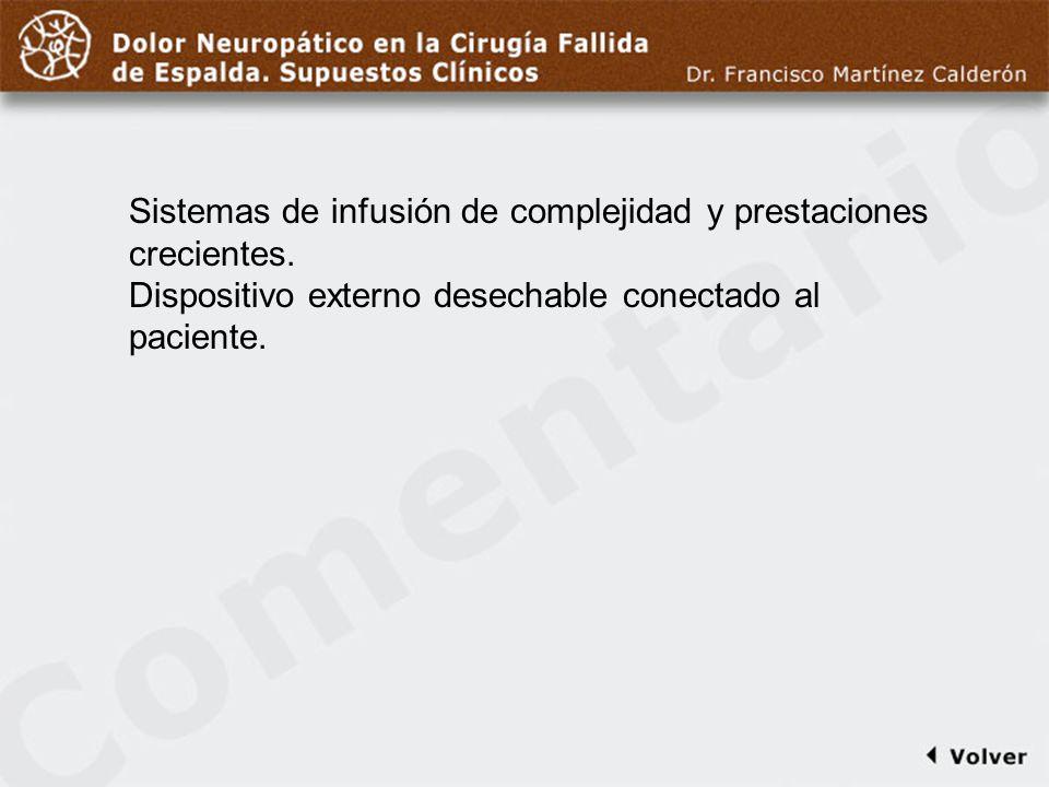 Comentario a diapo43 Sistemas de infusión de complejidad y prestaciones crecientes.