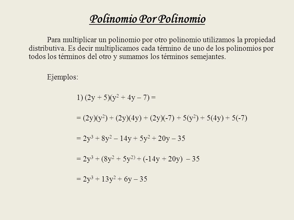 Polinomio Por Polinomio