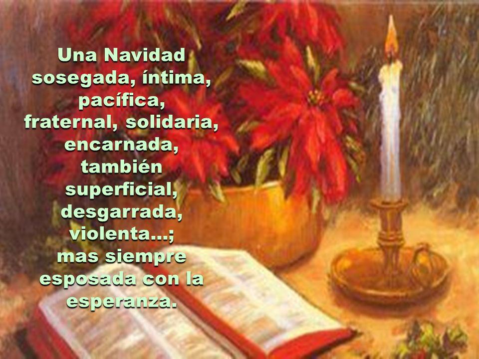 Una Navidad sosegada, íntima, pacífica,