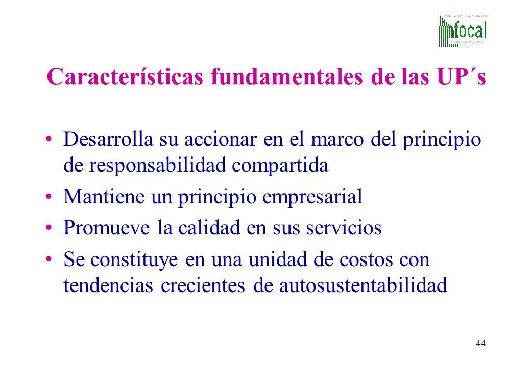 Características fundamentales de las UP´s