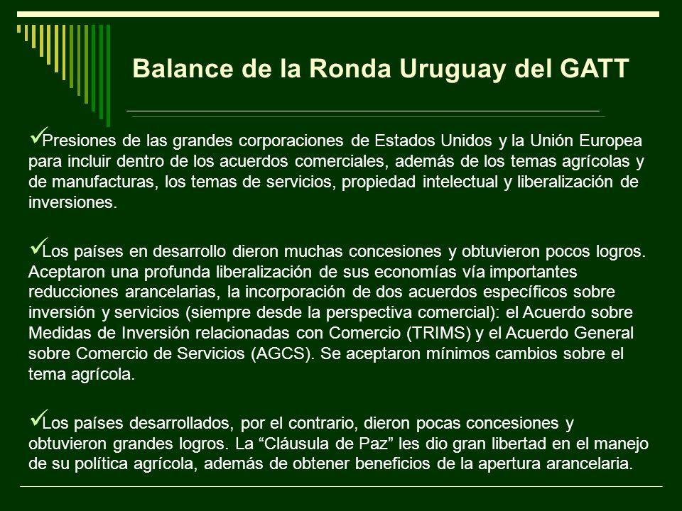 Balance de la Ronda Uruguay del GATT