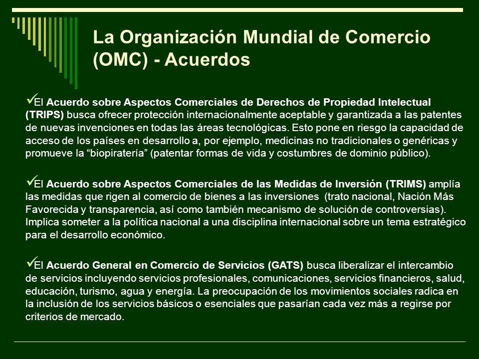 La Organización Mundial de Comercio (OMC) - Acuerdos