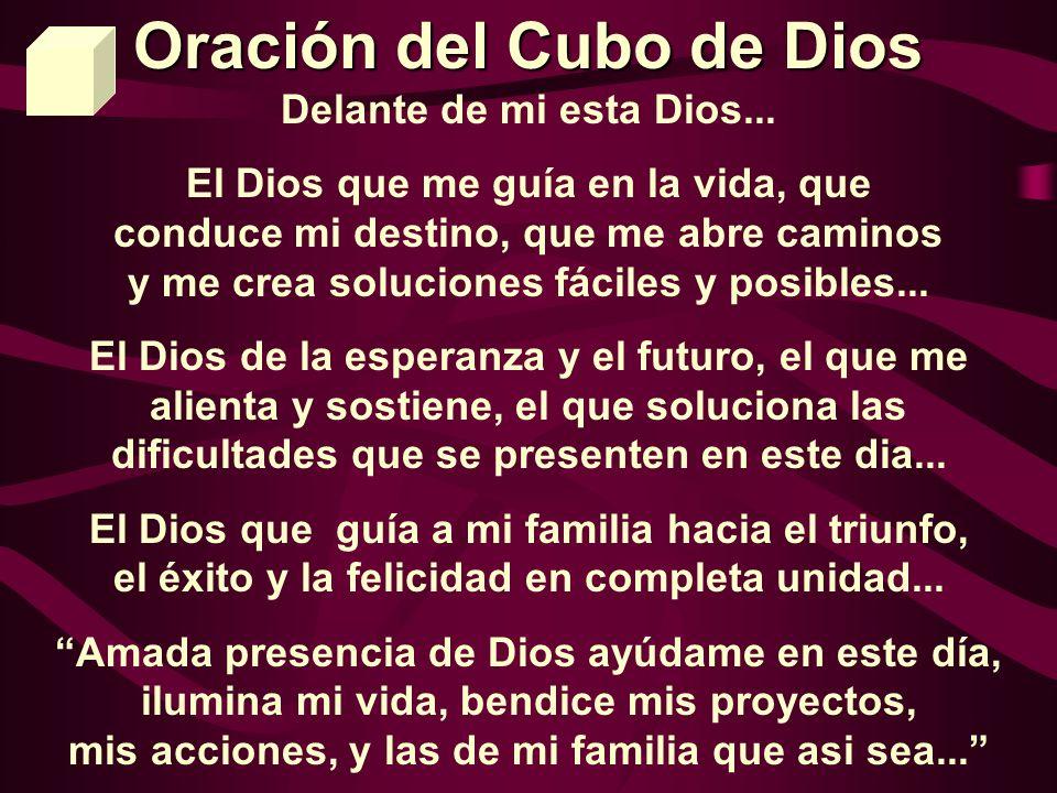 Oración del Cubo de Dios Delante de mi esta Dios...