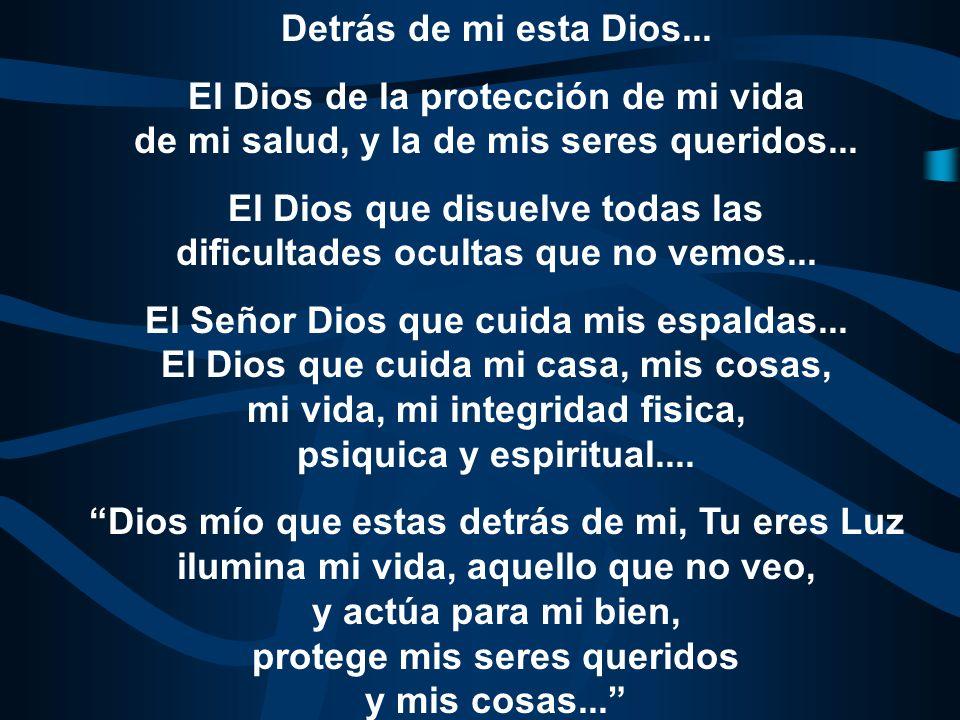 El Dios que disuelve todas las dificultades ocultas que no vemos...