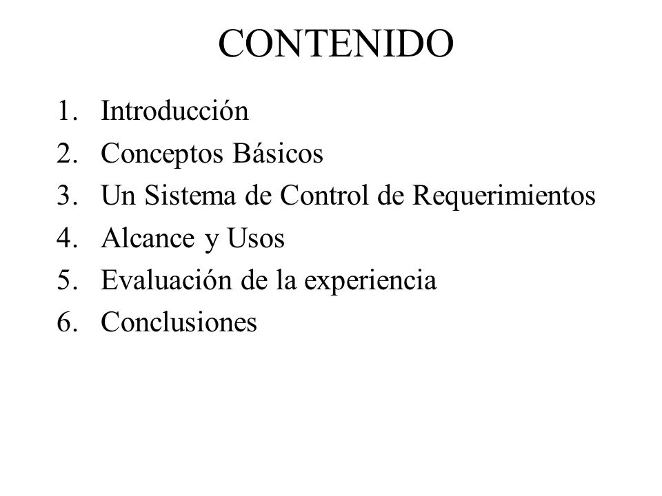 CONTENIDO Introducción Conceptos Básicos