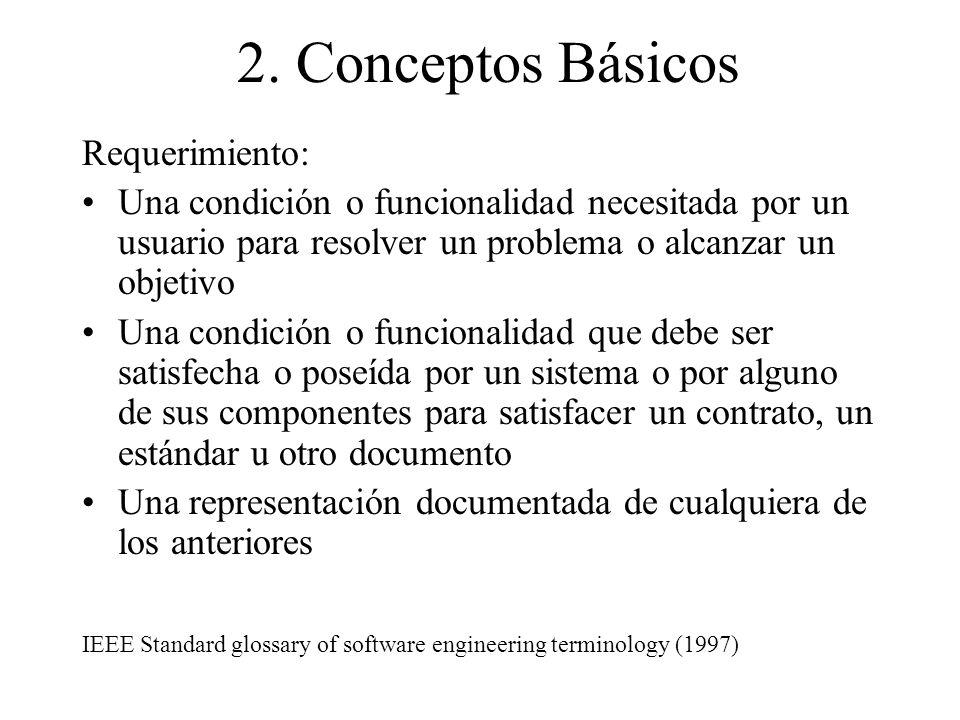 2. Conceptos Básicos Requerimiento: