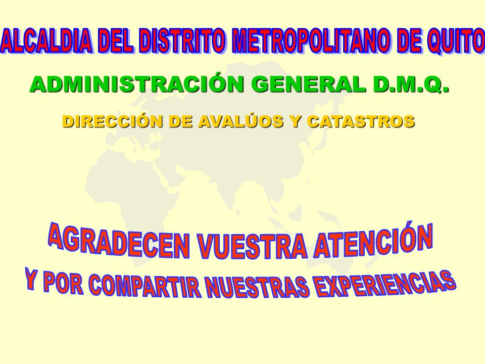 ADMINISTRACIÓN GENERAL D.M.Q.