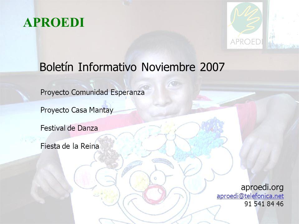 APROEDI APROEDI Boletín Informativo Noviembre 2007 aproedi.org