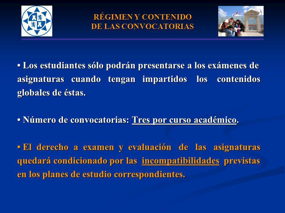 RÉGIMEN Y CONTENIDO DE LAS CONVOCATORIAS