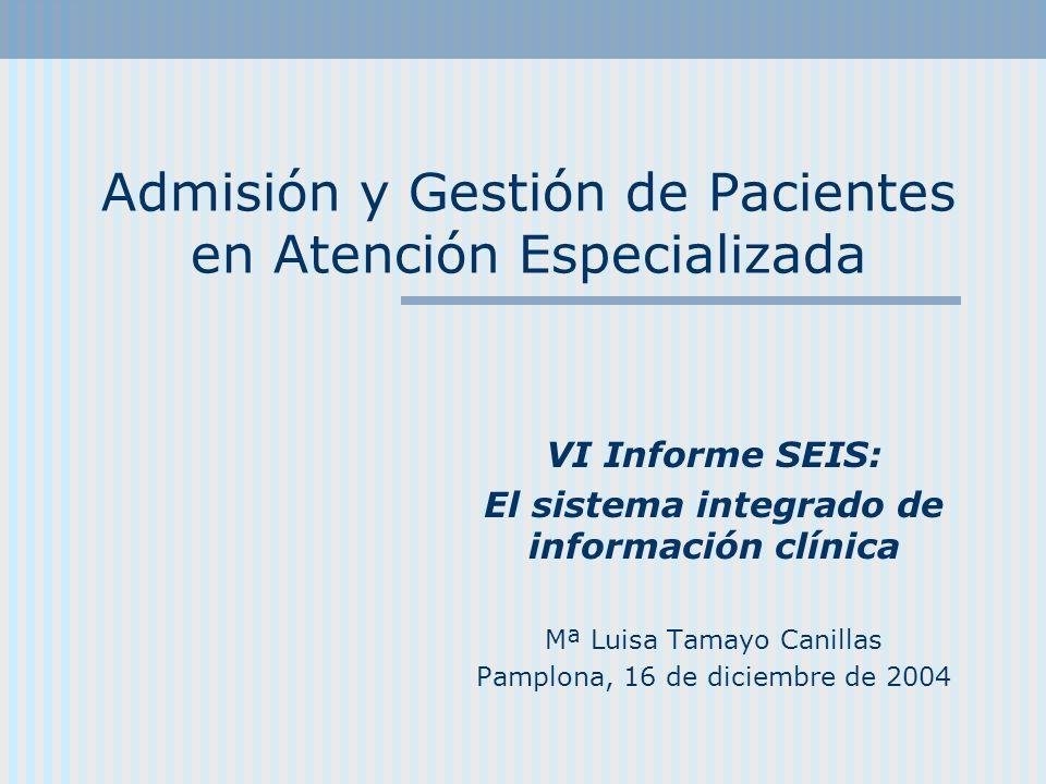 Admisión y Gestión de Pacientes en Atención Especializada