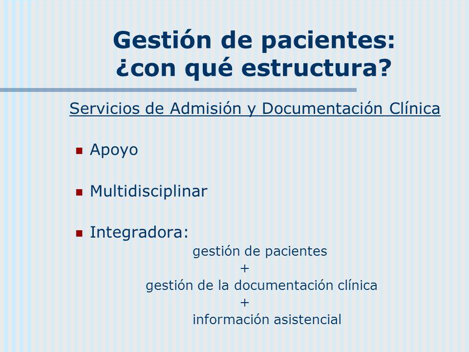 Gestión de pacientes: ¿con qué estructura
