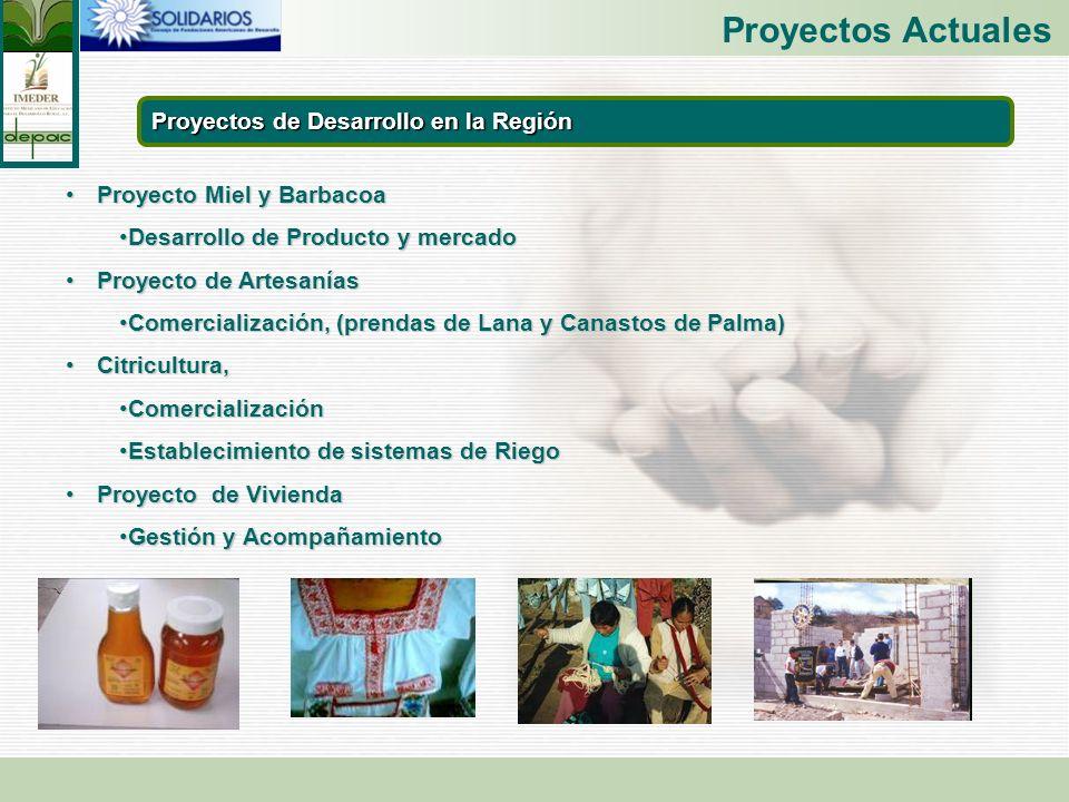 Proyectos Actuales Proyectos de Desarrollo en la Región