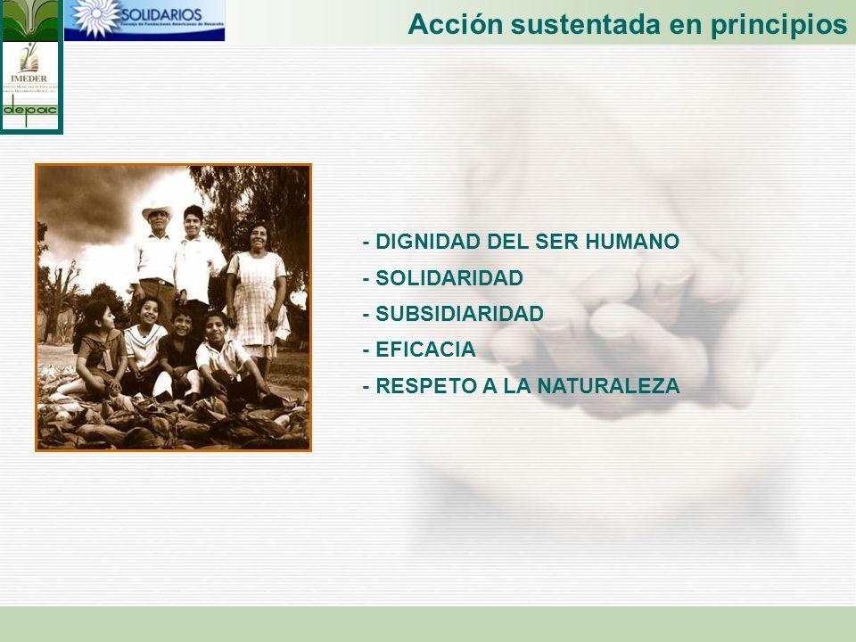 Acción sustentada en principios