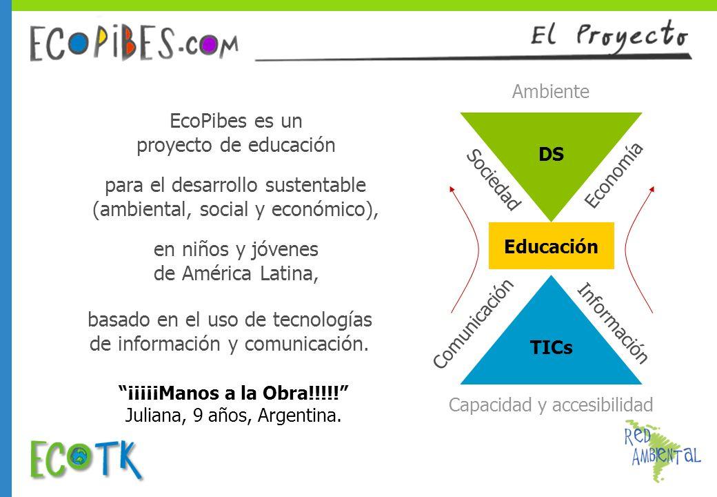 EcoPibes es un proyecto de educación