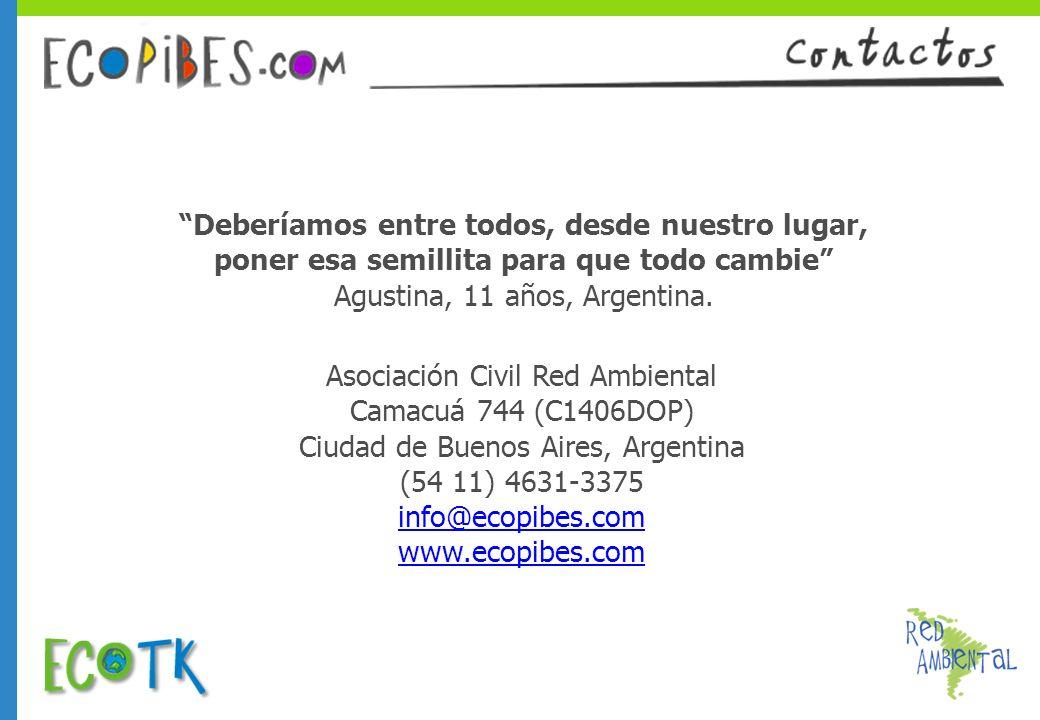 Asociación Civil Red Ambiental Camacuá 744 (C1406DOP)