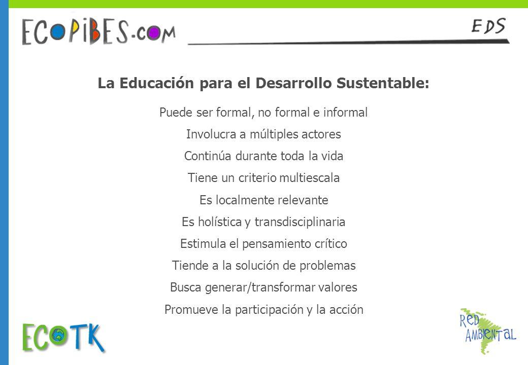 La Educación para el Desarrollo Sustentable: