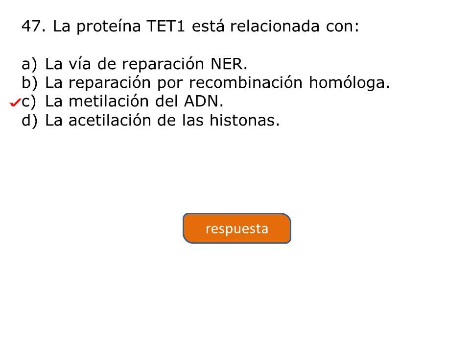 47. La proteína TET1 está relacionada con: