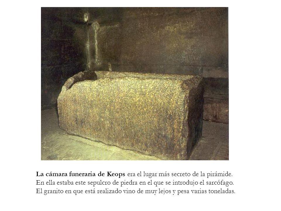 La cámara funeraria de Keops era el lugar más secreto de la pirámide.