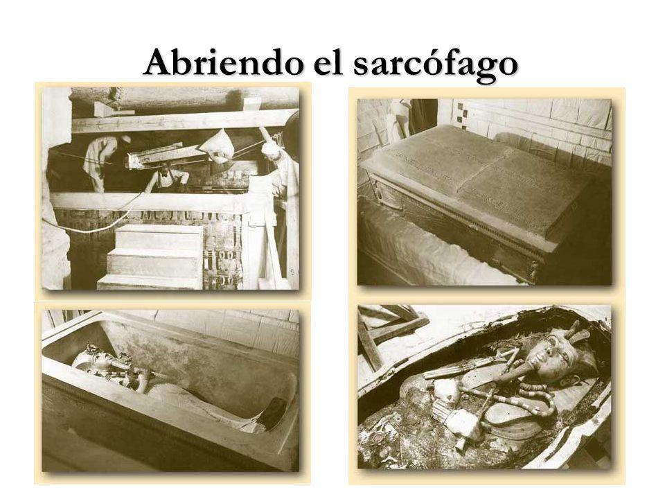 Abriendo el sarcófago