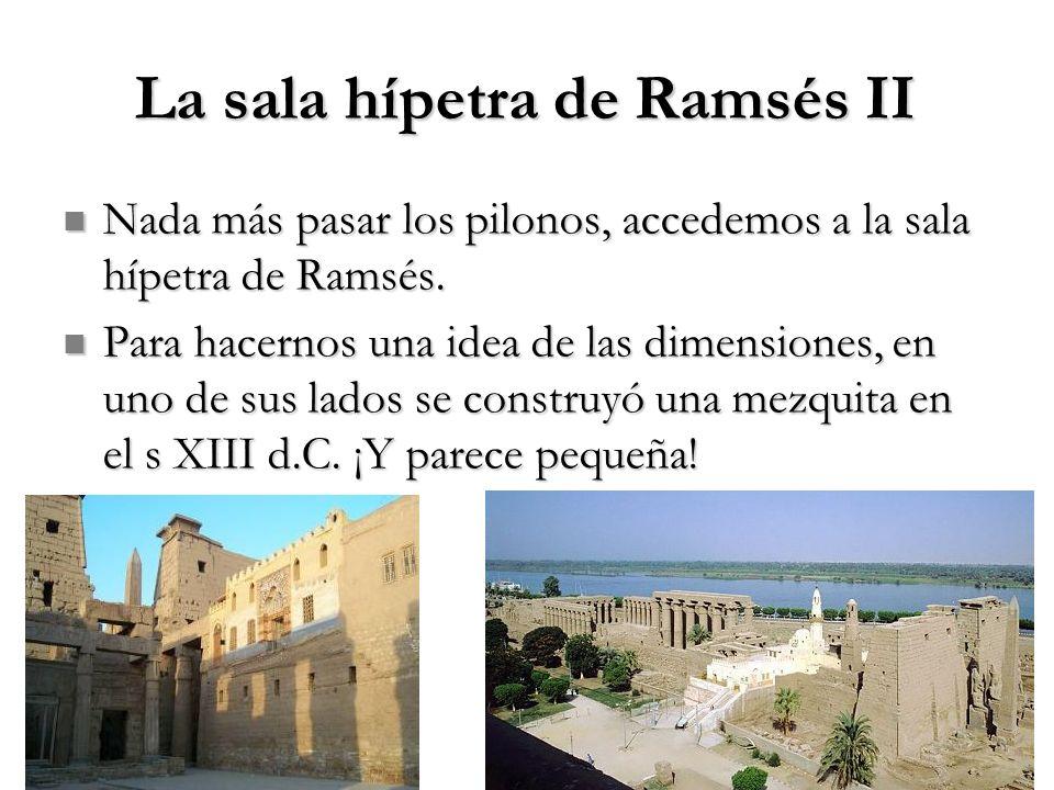 La sala hípetra de Ramsés II