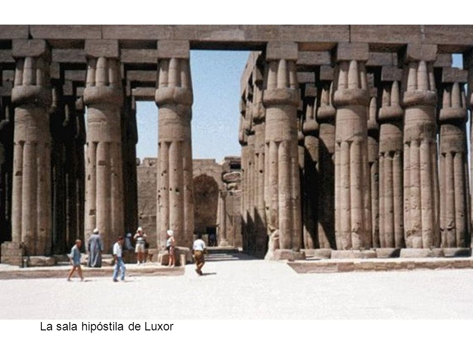 La sala hipóstila de Luxor