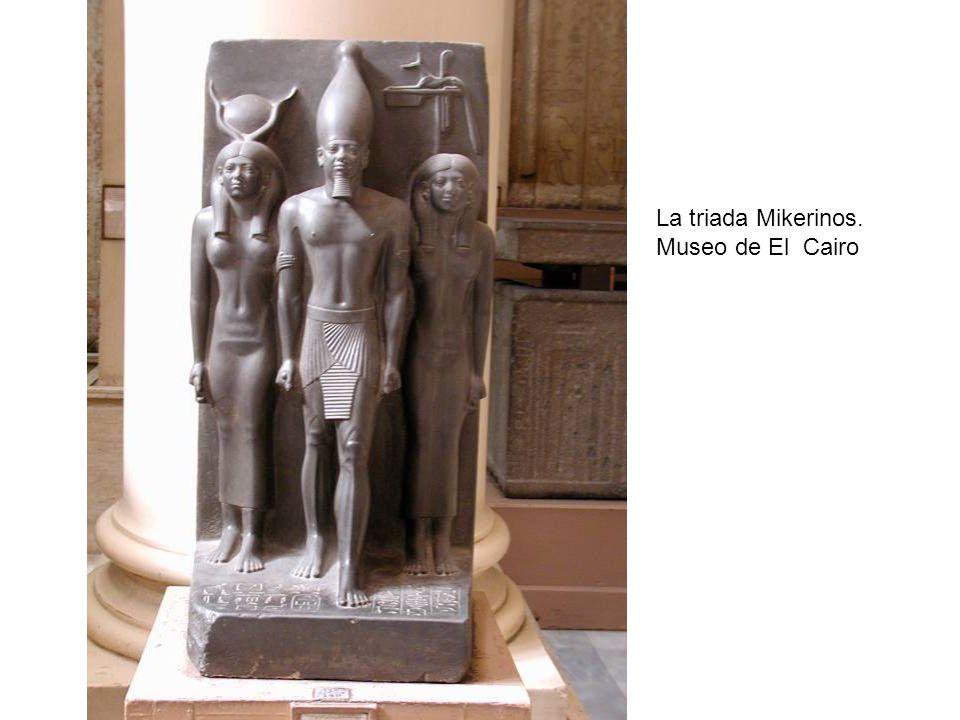 La triada Mikerinos. Museo de El Cairo